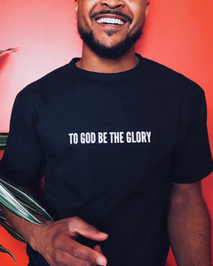 To God Be Tee in Black