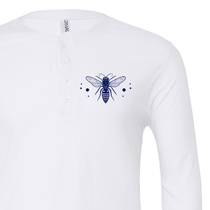 White Long Sleeve Henley