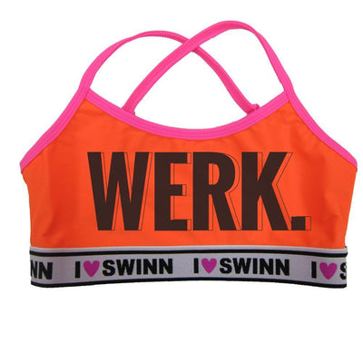 Swinn Bra Neon Orange / XS - 30/32 / Thin Strap The Werk Bra- by Swinn -Thin Strap