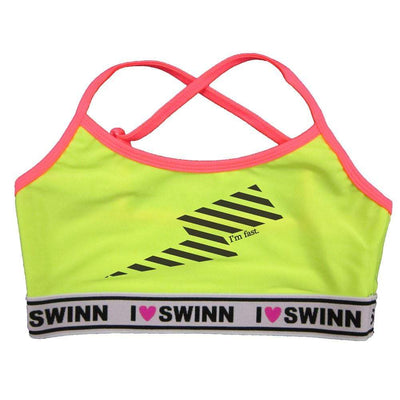 Swinn Bra Neon Yellow / Small - 34 / Thin Strap, The I'm Fast (Lightning) Bra by Swinn-Thin Strap