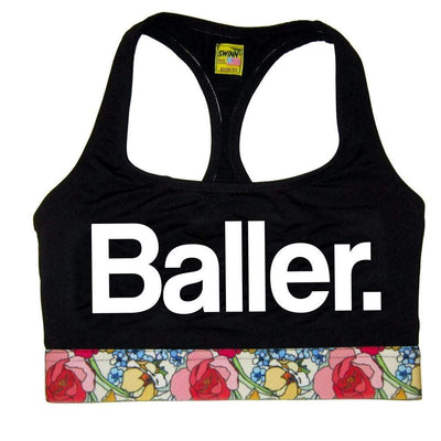SWINN Bra XS 30/32 / Black / Vintage Floral The Baller Bra by Swinn - Black