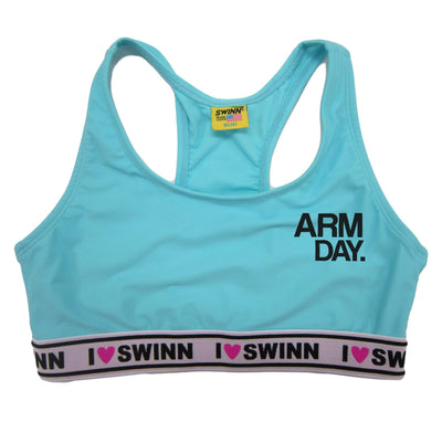SWINN Bra XS 30/32 / I Love Swinn / Neon Yellow The Arm Day Bra by Swinn (Left Chest)