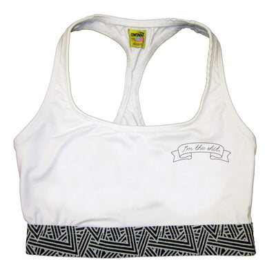 SWINN Bra XS 30/32 / White / Scribble The I'm the Shit Bra by Swinn - White