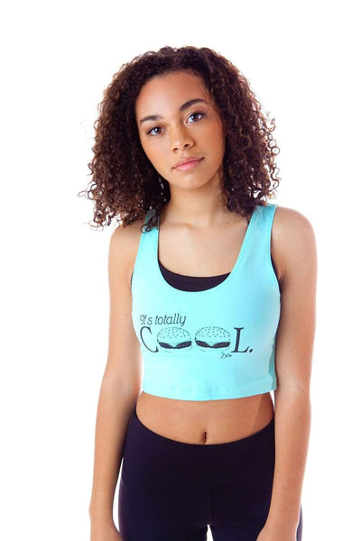Swinn Tank Top Small / Mint 'It's Totally Cool' Mint Crop Tank by Swinn