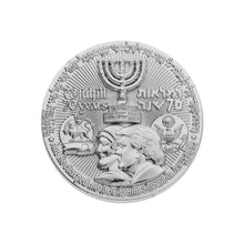 Load image into Gallery viewer, 70 Years Israel Redemption Temple Silver Plated Coin