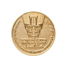 Load image into Gallery viewer, King David Half Shekel Gold Plated Coin