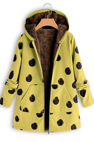 Image of Polka Dot Selling So Printed Jacket Yellow s