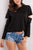 Women Pure Color Long Sleeve Round Neck Cotton T-Shirts black s