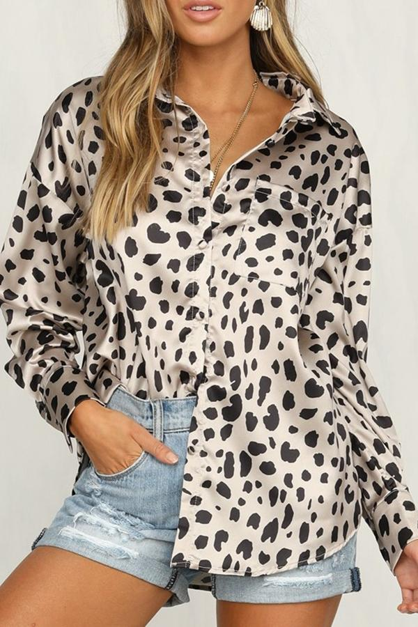 Trendy Leopard Print Long-Sleeved Shirt same_as_photo s
