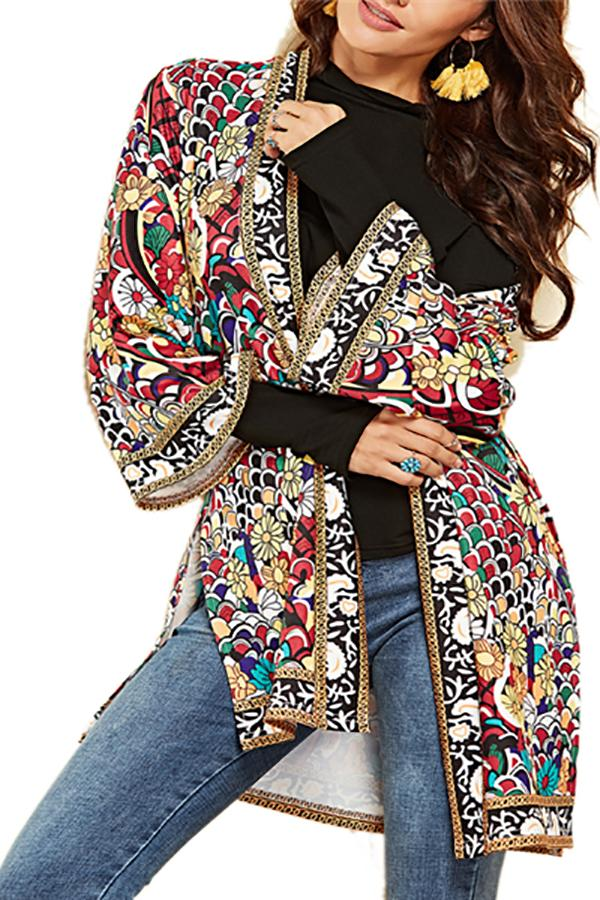 Vacation Casual Fashion Loose Floral Long Sleeve Jacket same_as_photo s