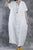 Women Summer Loose Fit Retro Linen Maxi Dress white s