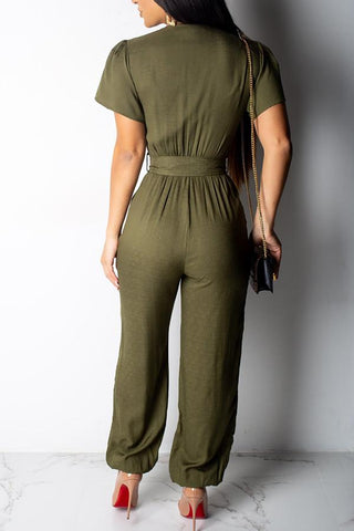 Roaso Casual Jumpsuit M Army Green