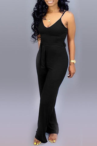 Image of Roaso Lace-up Jumpsuit S Black