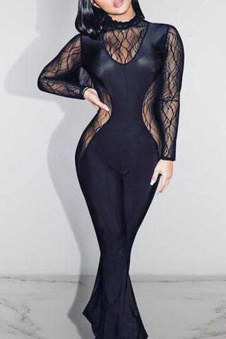 Roaso Sexy Perspective Jumpsuit S Black