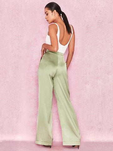 See-through Spaghetti-neck Solid Jumpsuits WHITE M
