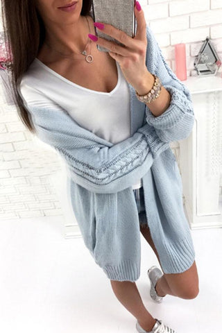 Image of Plain Knit Batwing Sleeve Cardigans