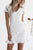 White Solid Color  V Neck Bodycon Dress white s