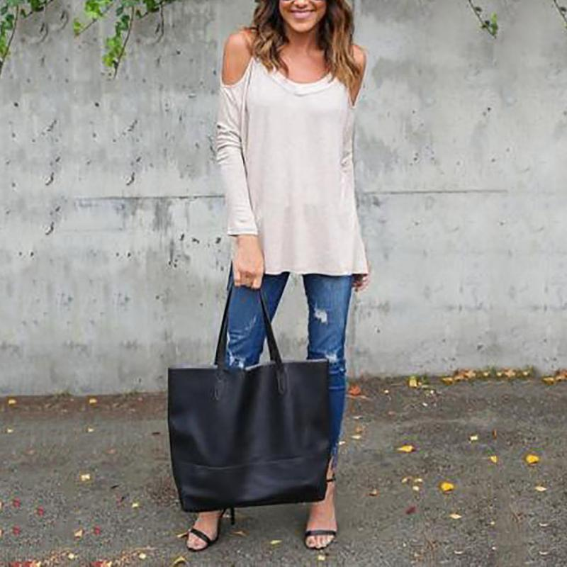 Mid-Length Loose Casual Long-Sleeved T-Shirt