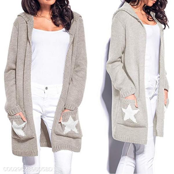 Pentagram Hooded Sweater Cardigan