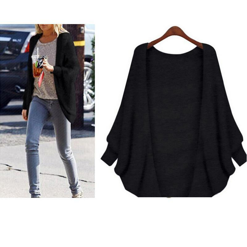 The Bat Sleeve Cardigan Loose Overcoat Sweater
