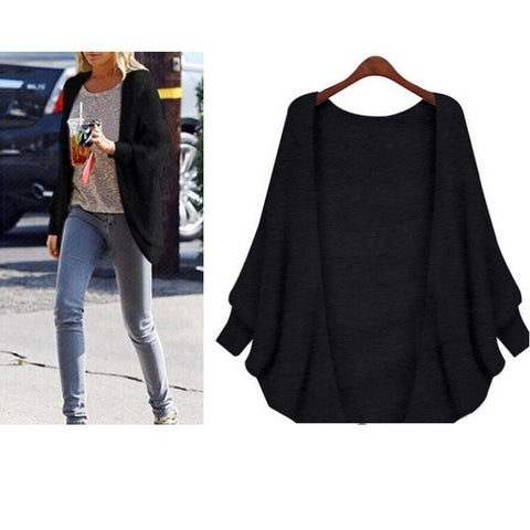 Image of The Bat Sleeve Cardigan Loose Overcoat Sweater