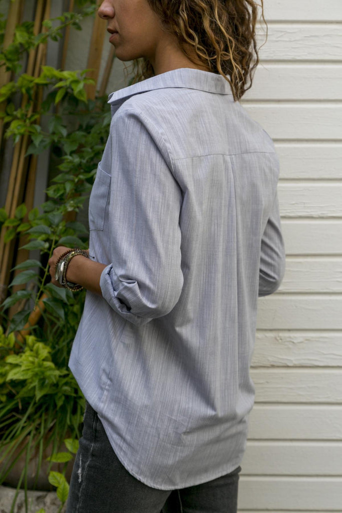 Solid Color Long-Sleeved Casual Multi-Color Shirt light_gray m