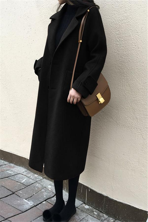 Large Size Warm Coat   In Autumn And Winter Black s