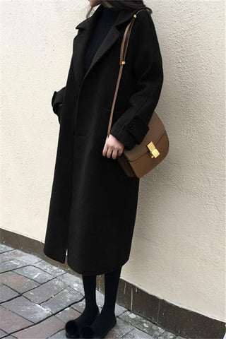 Image of Large Size Warm Coat   In Autumn And Winter Black s