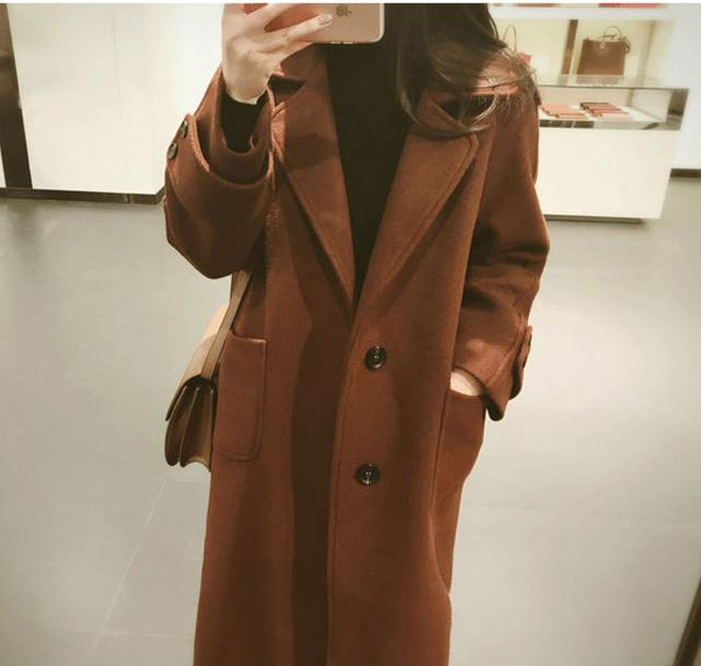 Large Size Warm Coat   In Autumn And Winter Brown s