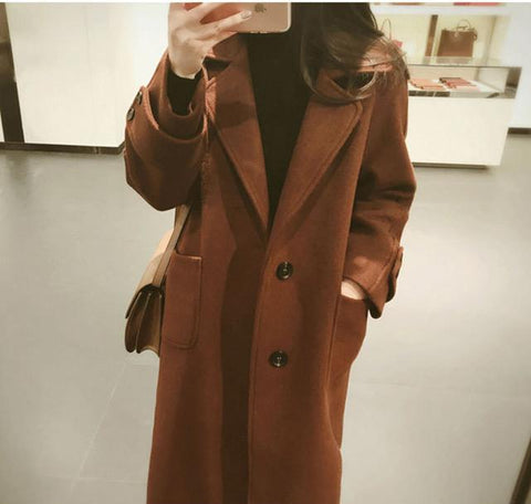 Image of Large Size Warm Coat   In Autumn And Winter Brown s