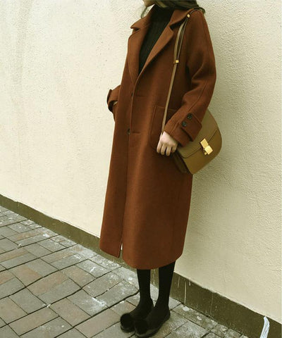 Image of Large Size Warm Coat   In Autumn And Winter Black xl