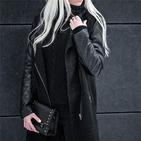 Image of Fashion Ladies Down   Coat Cotton Clothing Black m
