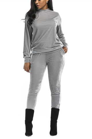 Image of Casual Fashion Sport Suit Of Golden Fleece Gray s