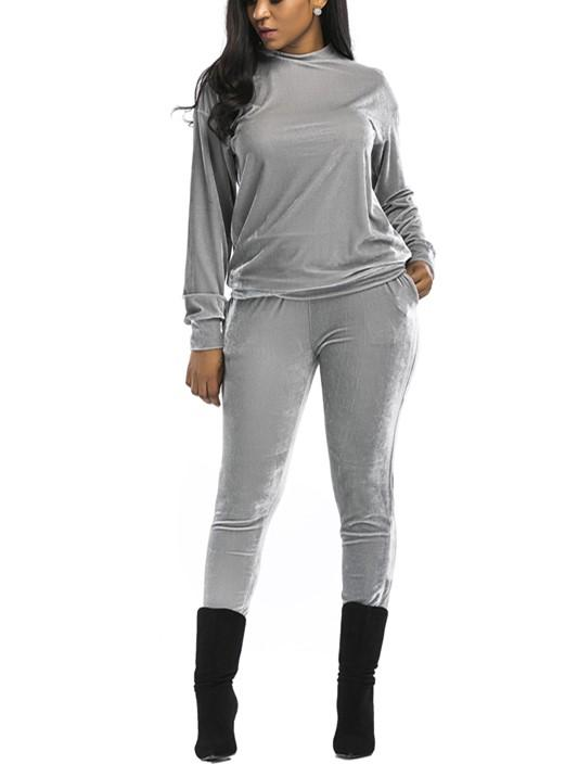 Casual Fashion Sport Suit Of Golden Fleece Gray m