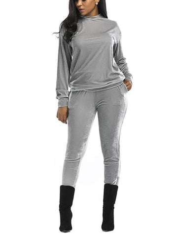 Image of Casual Fashion Sport Suit Of Golden Fleece Gray m