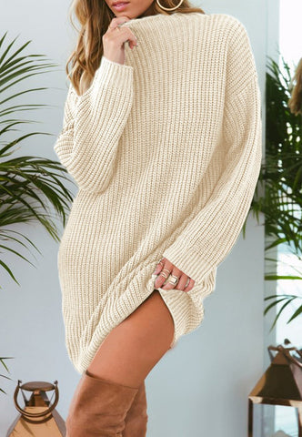 Image of Pure Color Fashion Is Loose In The Long Casual Sweater Green s