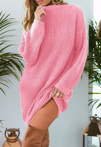 Image of Pure Color Fashion Is Loose In The Long Casual Sweater Beige m