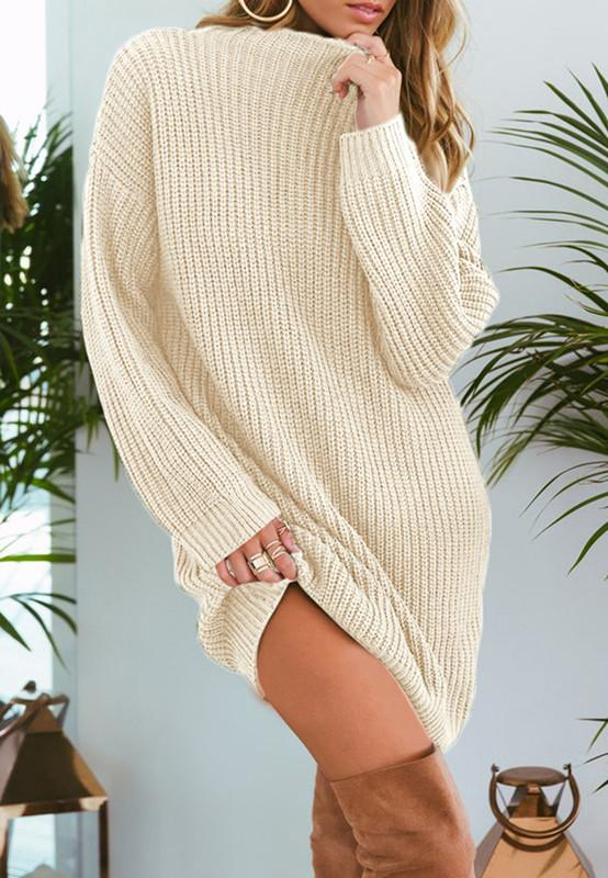 Pure Color Fashion Is Loose In The Long Casual Sweater Green m