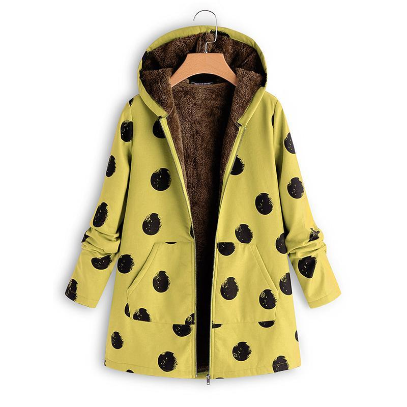 Polka Dot Selling So Printed Jacket Yellow m