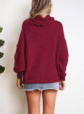 Image of Casual Easy Turtleneck   Sweater Knitted Sweater Khaki s