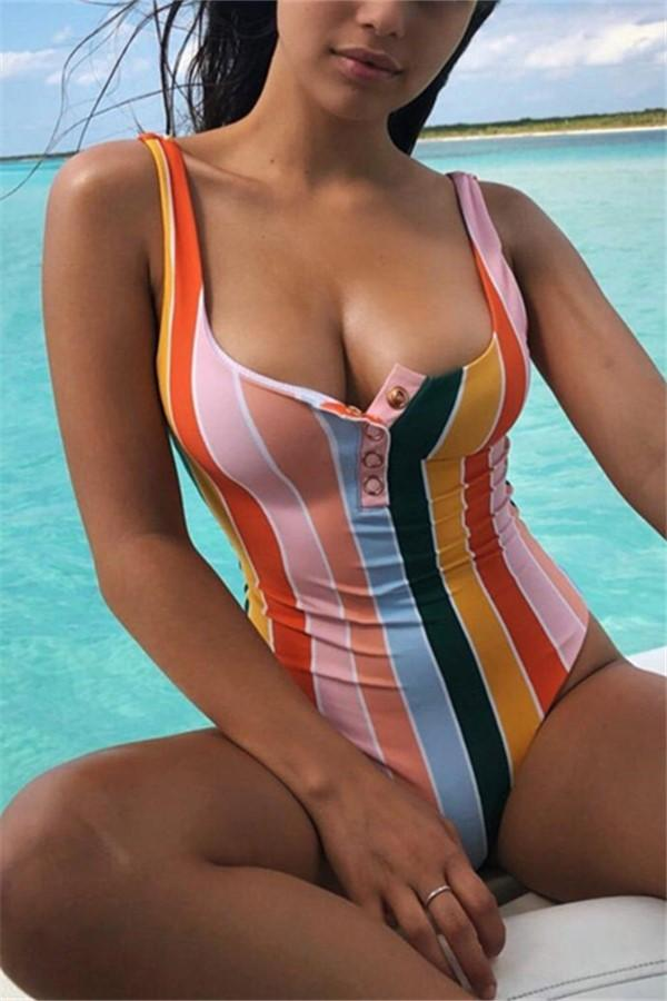 Vacation Sandbeach   Sexy Strips Piece Swimsuits Bikini Same As Photo m