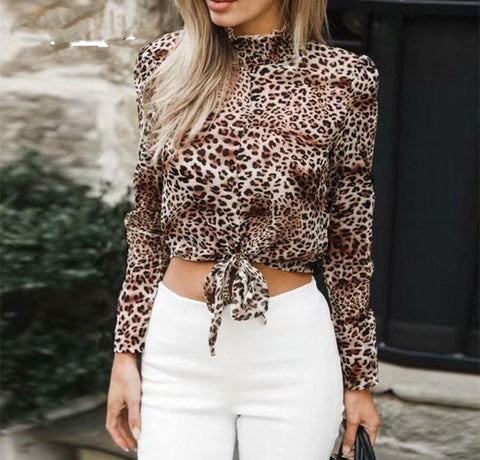 Image of Fashion Sex Frenulum   Leopard Print Shirt Leopard Print l