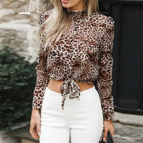 Image of Fashion Sex Frenulum   Leopard Print Shirt Leopard Print m