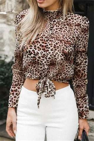 Image of Fashion Sex Frenulum   Leopard Print Shirt Leopard Print s