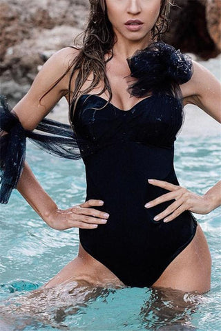 Image of Solid Colored Gauze   With A Body Suit Black s
