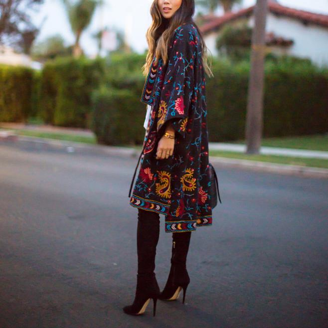 Bohemian Embroidered Cardigan