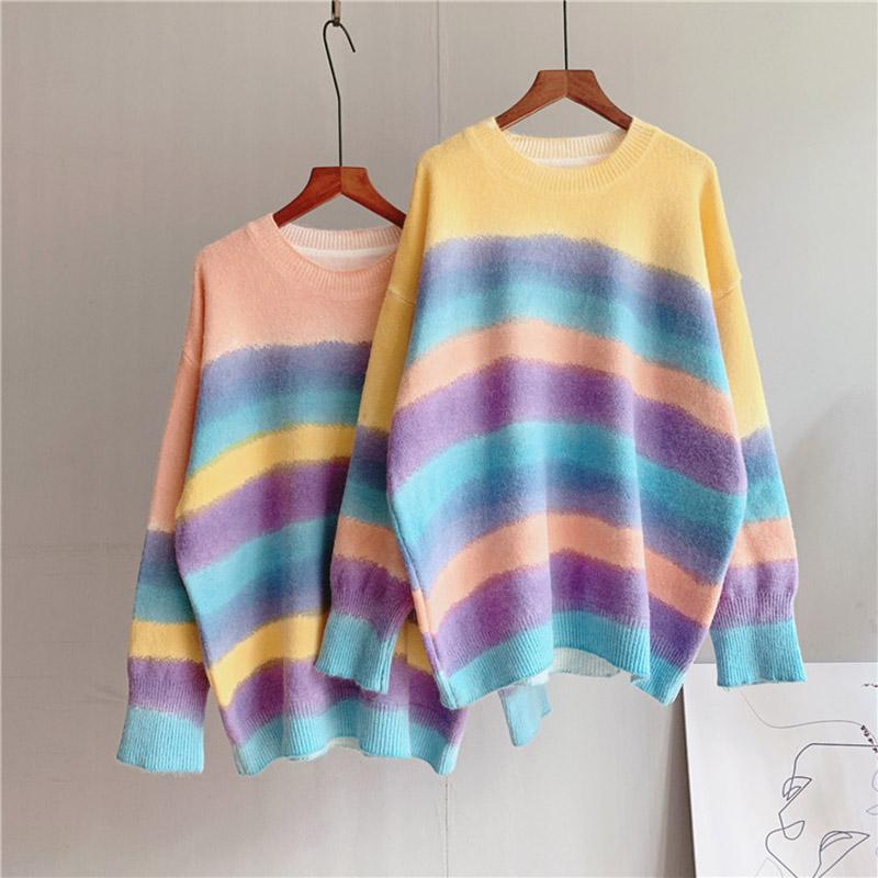 Sweet Rainbow Color Dyed Sweater