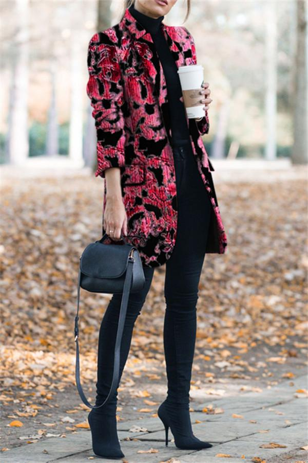 Autumn and winter   fashion prints to trim warm coats Red s