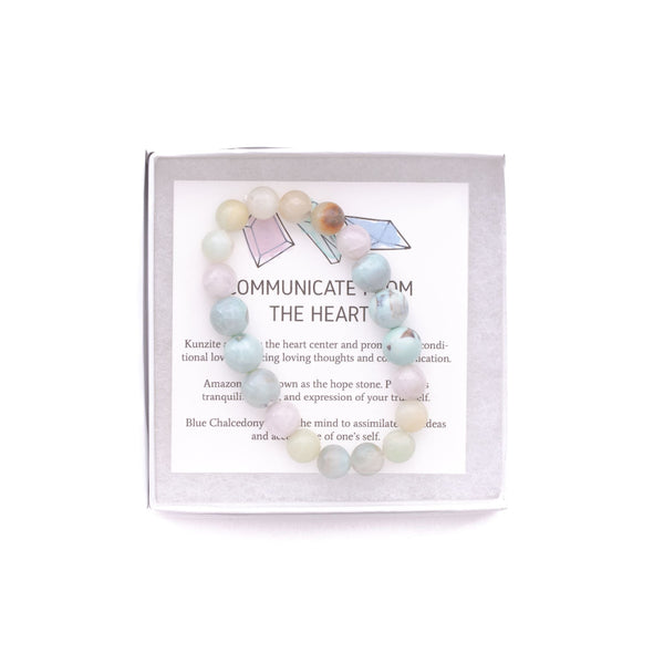 Communicate from the Heart - onethree gems Bracelet
