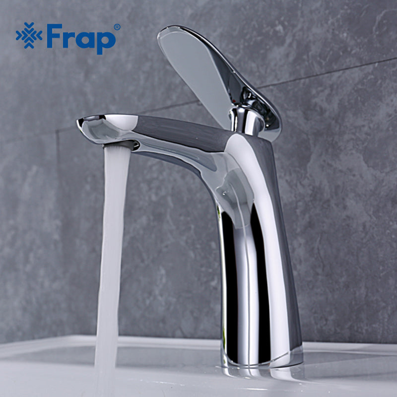 Frap new morden chrome bathroom basin faucet washbasin waterfall faucets tap bathroom for sink cold and hot water mixer  Y10030